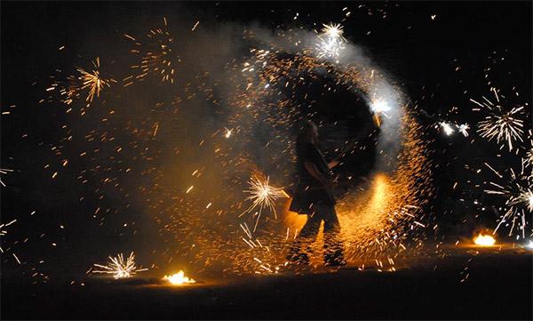 Animations - Patator feux de Bengale