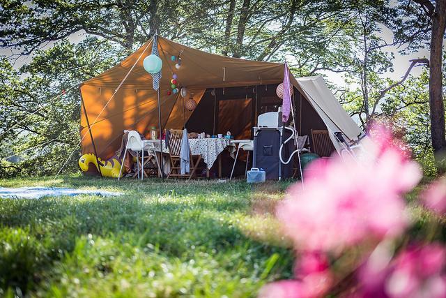 Le Plo tente décorée et fleurie