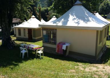 La Raviège bungalow toilé