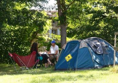 Camping les prunettes_monesties tente