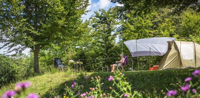 Camping tente repos nature