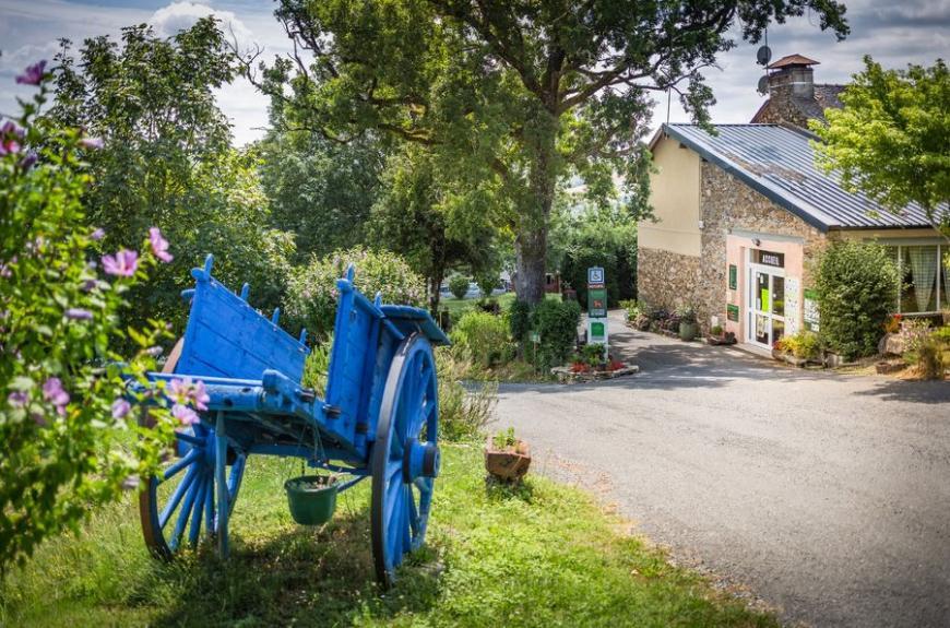 Domaine Vallée du Tarn charette et accueil