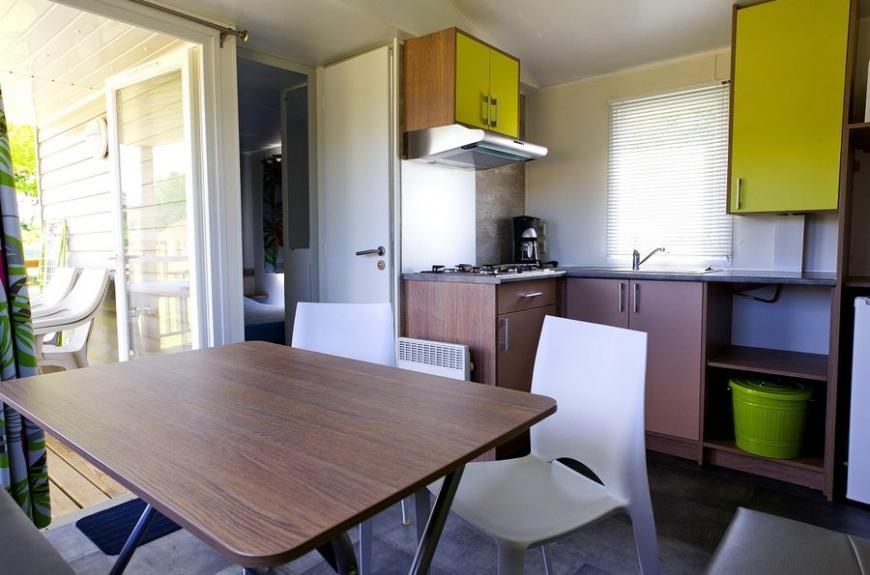 Les Pommiers d' Aiguelèze intérieur mobile home