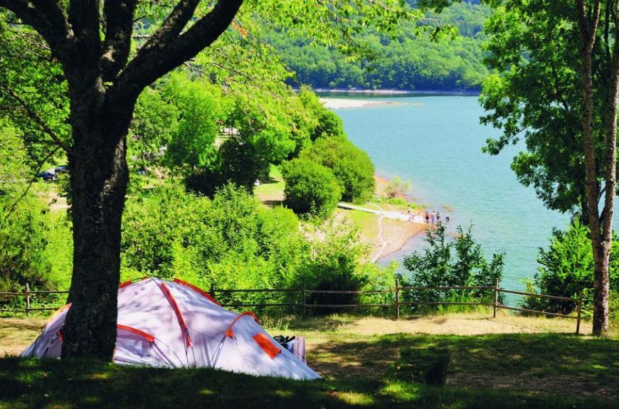 Camping tente Fées du Lac Laouzas