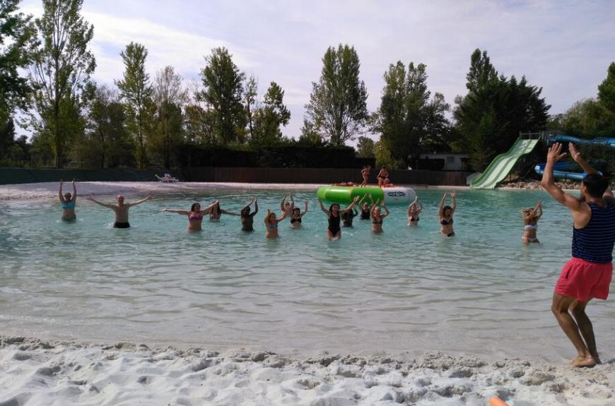 animation aquagym Lagon Camping Plan d'Eau St Charles