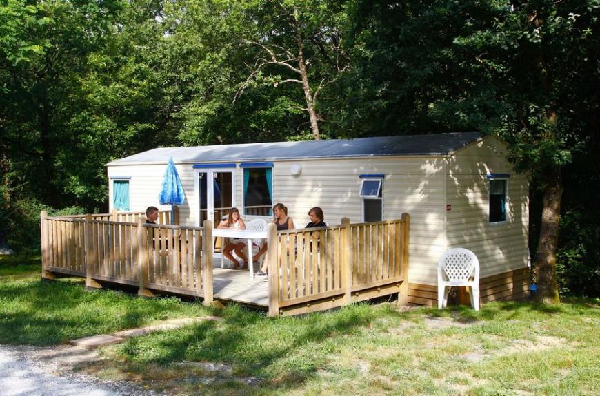 Saint Pierre de Rousieux mobile home terrasse