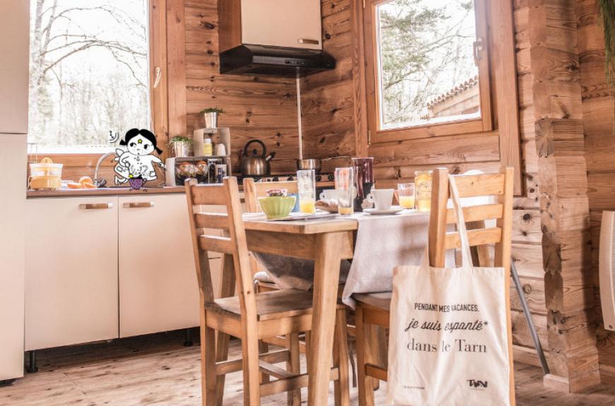 Les Fées du Moulin cuisine équipée