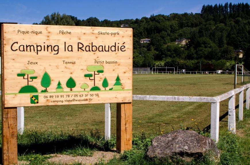 Camping Municipal la Rabaudié panneau entrée
