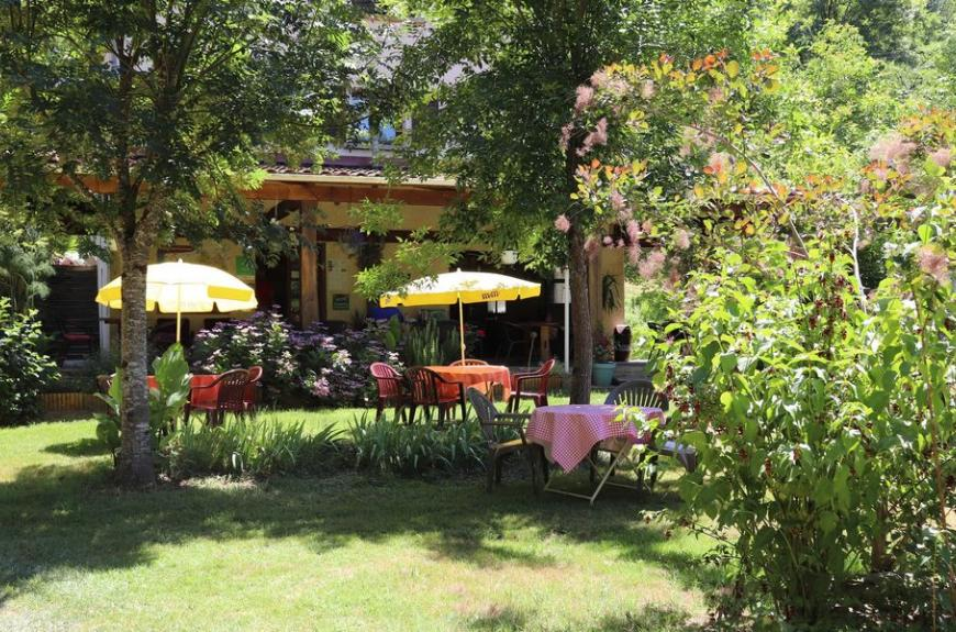 Camping La Prade terrasse snack