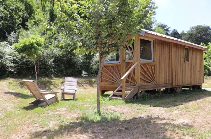 Camping La Prade cabane bois