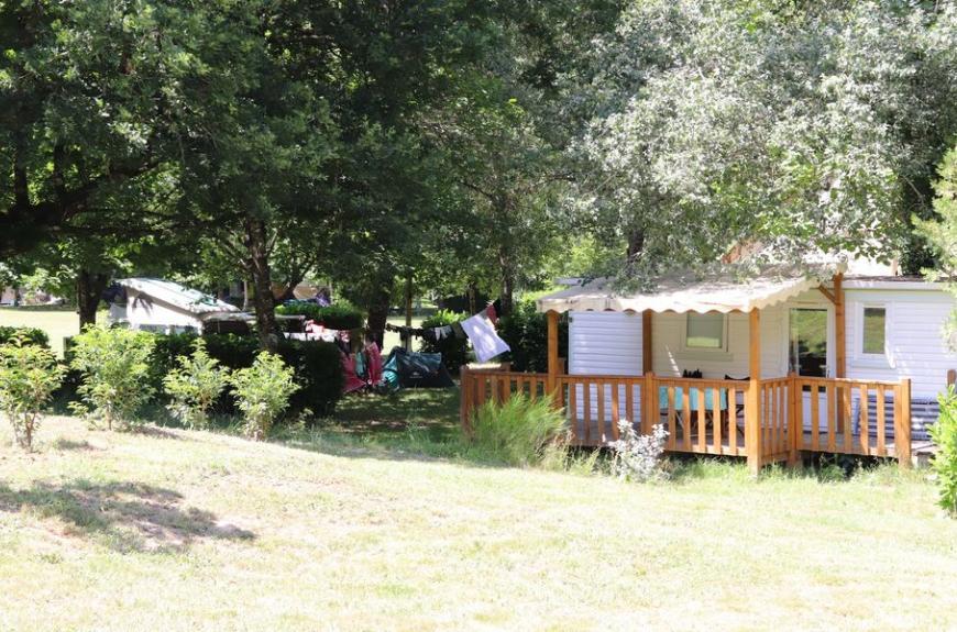 Camping La Prade location mobile home