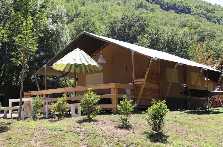 Camping La Prade lodge toile et bois