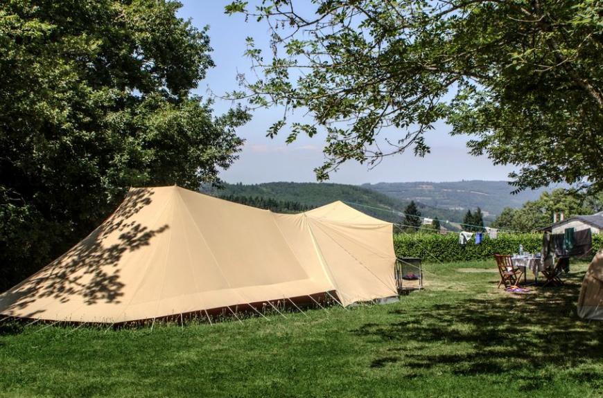 Camping Le Plô grande tente