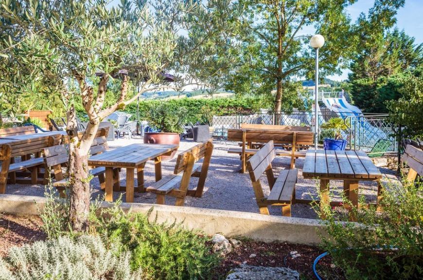 Camping Chêne Vert terrasse bar