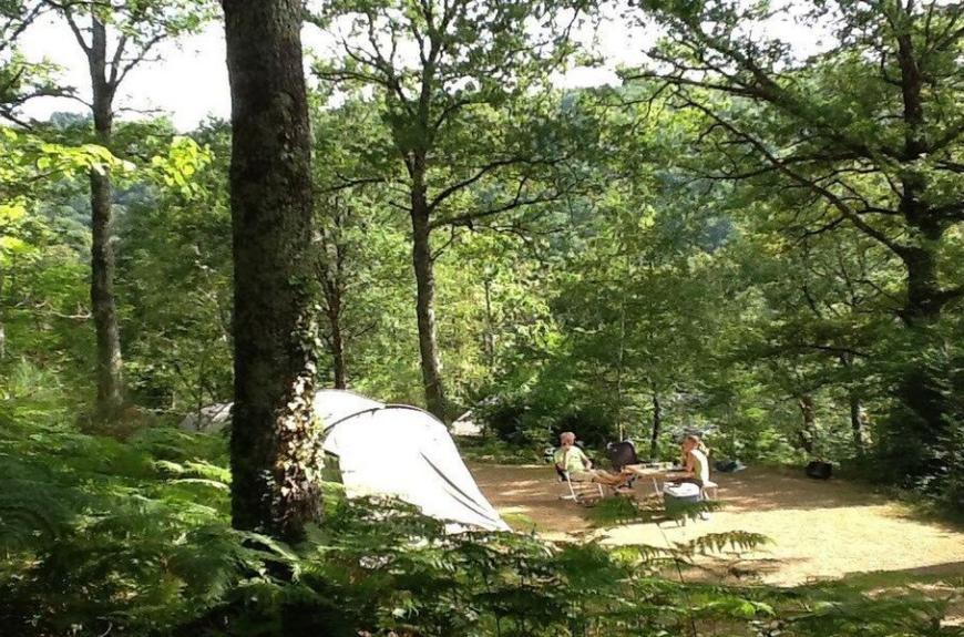 Camping Domaine Les Clots en plein coeur de la forêt