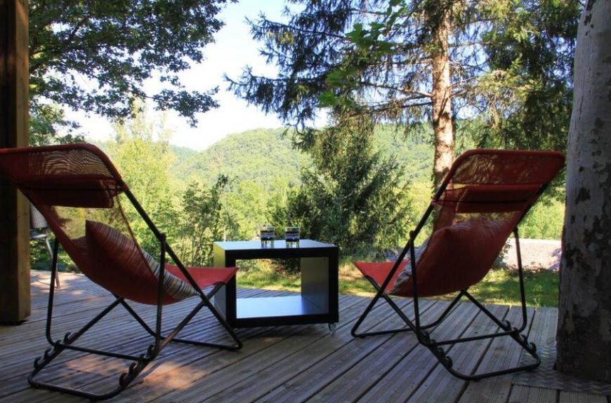 Camping Domaine Les Clots terrasse avec vue