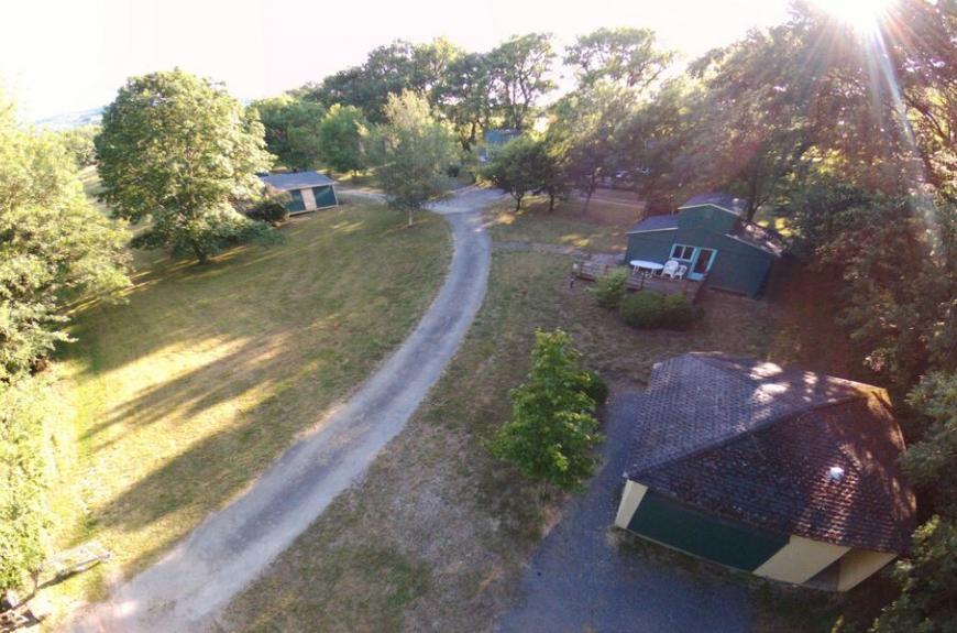Domaine en Laure chalets vue drone