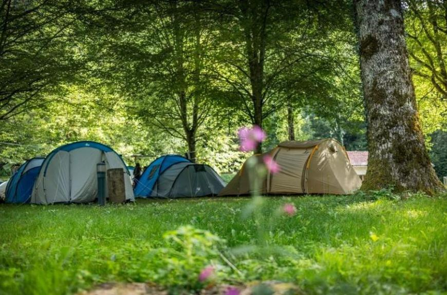 Camping les Tarrasses du Viaur emplacements ombragés