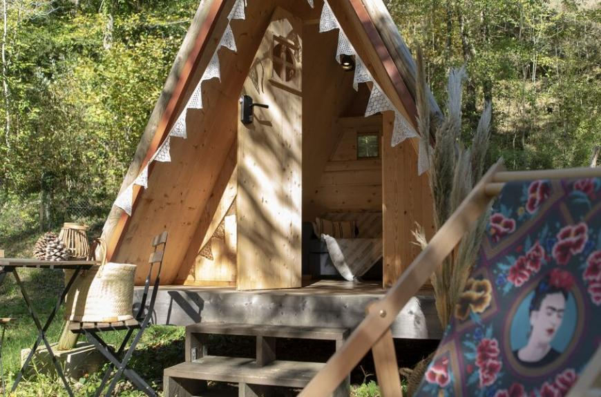 Camping les Tarrasses du Viaur tipi pour couple