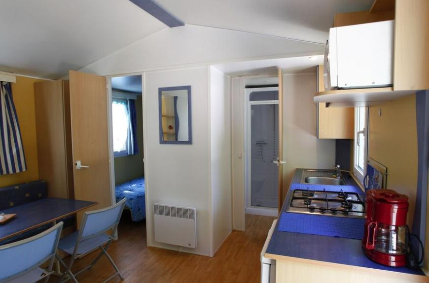 Camping O Bleu Pastel intérieur mobile home