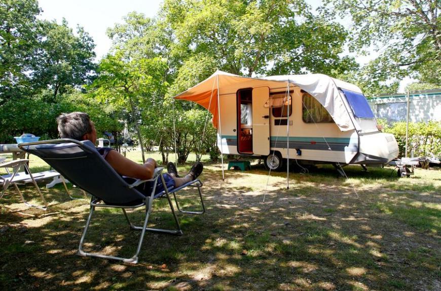 Camping O Bleu Pastel caravane